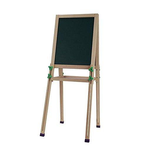 VIUNCE kindertekenplank / massief hout schildersezel / dubbelzijdig magnetisch bord / houder Home Tablet tekening kinderen schildersezel (kleur: 32 * 40cm)