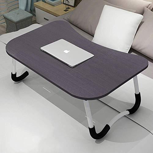 AOLI Tabla compartida portátil Escritorio plegable mesa de juego de escritorio de la PC portátil Estudio de la estación de trabajo Mesita Estantería para Sofá cama Suelo-A 60X40X28Cm (24X16X11Inch),6