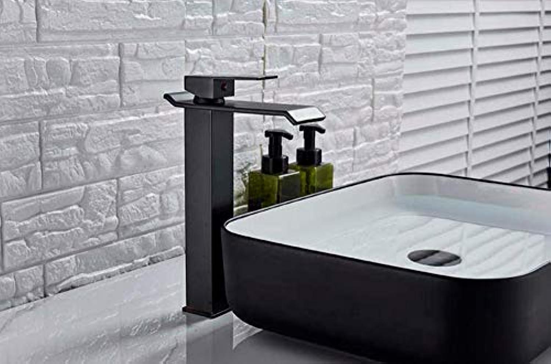 Wasserhahn Chrom Quadrat Wasserfall Waschbecken Wasserhahn Bad Mischbatterie Mit Einhand Kaltwasserhahn Becken Wasserhahn