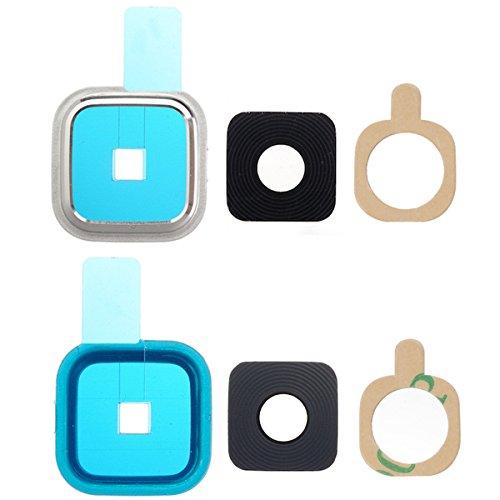 BisLinks® Für Silver Kamera Linse Cover Glas Frame Für Samsung Galaxy S5 G901F G900F Neo G903F