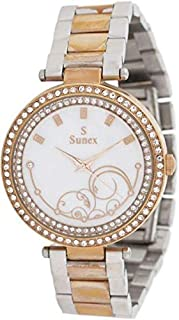 Sunex Women's White Dial Stainless Steel Band Watch - S6381RGW