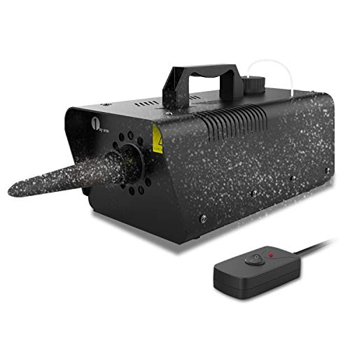 Schneemaschine,Metallhülle 1byone Snow Machine 650W Funk- & Kabelfernbedienung schneemaschine outdoor, schneekanone für Weihnachten/Hochzeit/Garten