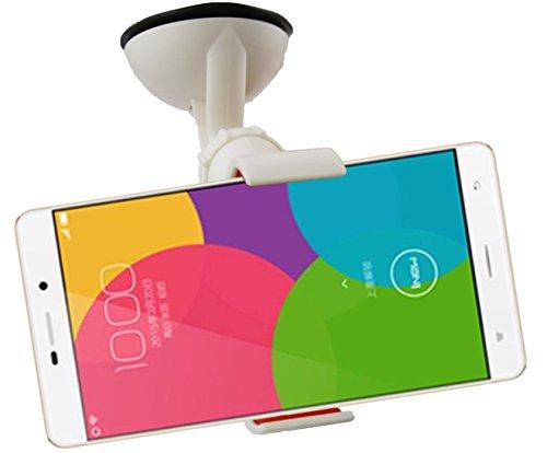 Emartbuy® Universal Handyhalterung Armaturenbrett/Windschutzscheibe Weiß fürgeeignet iNew L5 Smartphone