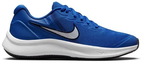 Nike Star Runner 3, Zapatillas Deportivas, Juego Royal White Midnight Navy, 36.5 EU