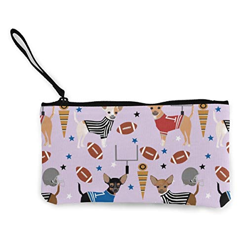 Football Sports Multifunctional Portable Canvas Coin Purse Phone Pouch Cosmetic Bag,Zippered Wristlets Bag