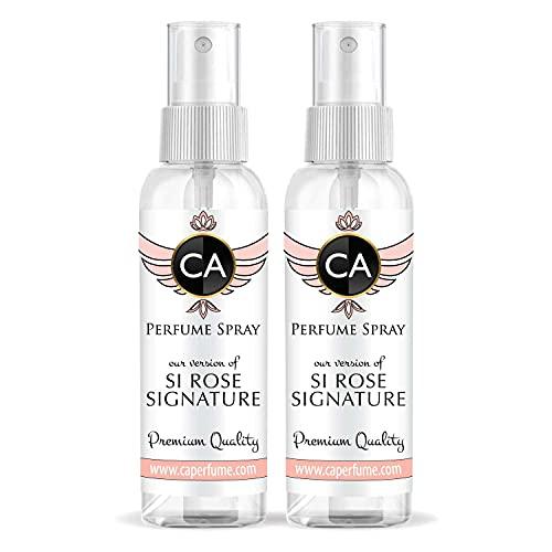 CA Perfume Perfume feminino Impression of Si Rose Signature Atomizador Recarregável Amostra Tamanho Viagem Concentrado Hipoalergênico Vegano Longa Duração Eau de Parfum (Colônia) 1 Fl Oz/60 ml - X2