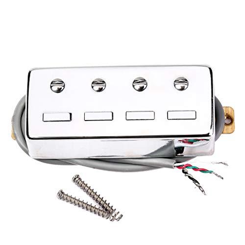 perfk Instrumento de Música Reemplazo de Pastilla Magnética de Bajo de 4 Cuerdas