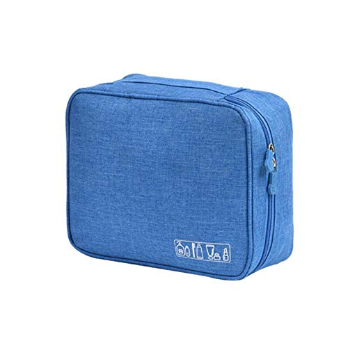 IONE Portable Fashion Cosmetic Bag Cosmetic Case Beauty Cosmetic Bag Travel Essential Accessories, Sky Blue