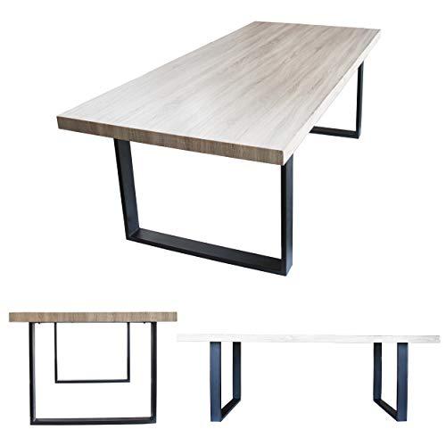 MOG Esszimmertisch 220x100 cm Kufentisch Holztisch Kufengestell Esstisch Tisch mit Tischplatte und Kufen - alle Größen und Farben (Sanoma Eiche +...