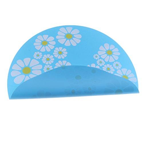 D DOLITY Futtermatte Unterlegmatte Silikon Unterlage für Trinkbrunnen oder Futternapf - Rund, Blau
