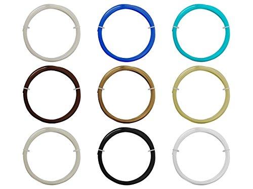 Monoprice 114392 Musterpackung 9 Rollen Filament 1,75 mm, 0,3 kg (PLA, ABS, PVA, PETG, Reinigung)