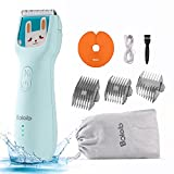 Bololo baby hair clippers quiet - quiet hair clippers for kids autism hair clippers for kids, hair cutting kit for kids IPX7 Waterproof triple faster Charge   Ceramic Blade Kit for Kids Infants