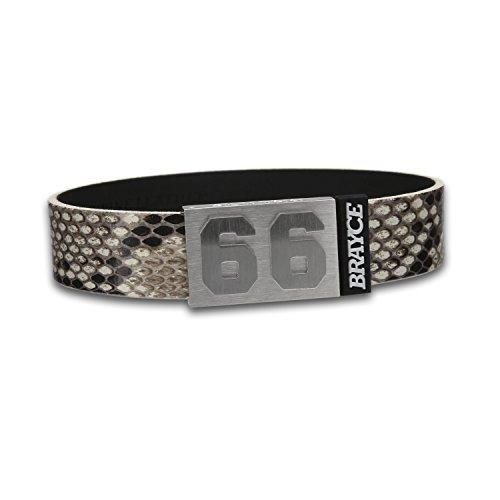 BRAYCE® Lederarmband mit Deiner Nummer 00-99 im Python Style I personalisierbarer Schmuck für Herren & Damen – das Trend Armband aus Echtleder, handgemacht in Deutschland