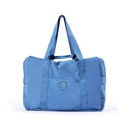 FANDARE Sac de Voyage Pliable de Sport Ultra-Léger Hommes Femmes Tote Travel Duffel Bag Gym Sac à Main de Plage Sac de Rangement Imperméable Polyester Bleu