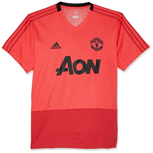 adidas Herren Manchester United FC Training Kurzarm Sweatshirt, Core Pink/Blaze Red/Black, M