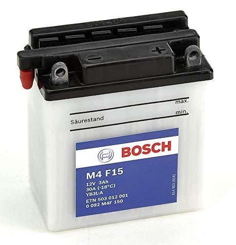 Bosch M4F15 Batería motocicleta YB3L-A - 12V Plomo 3A/h-10A