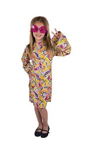 Costumizate! Disfraz de Hippie para niña Talla 7-9 Especial para niños Fiestas de Disfraces o Carnaval