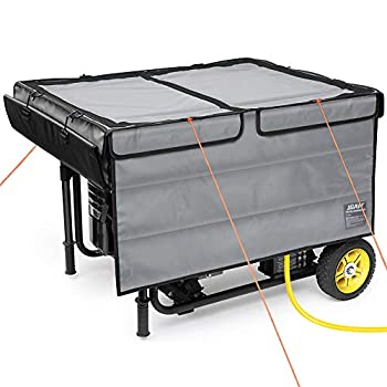 IGAN Generator Tent Running Cover Pro Ultra Heavy Duty Tarpaulin Enclosure with Windproof Kit Portable All-Weather Generator Rain Shelter for Most 3500w-12000w generators Gray-2