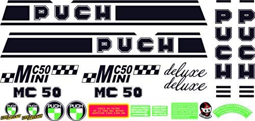 Kit de adhesivos motos clasicas Puch MINICROSS MC 50 Mini Deluxe - Juego Pegatinas Completo - Vinilo para Moto, máxima Calidad.