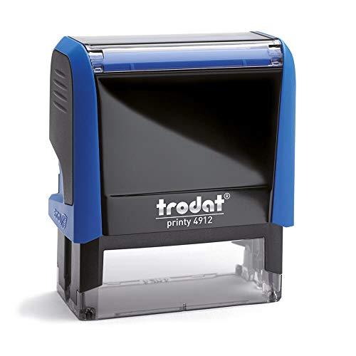 Stempel Trodat Printy 4912 custom (47x18 mm - 5 Zeilen) mit individueller Textplatte Farbe Blau