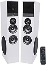 Rockville TM80W White Powered Home Theatre Tower Speakers 8