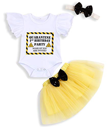 Sinhoon Baby Girl Valentines Day Skirt Outfits Toddler Girl Ruffle Romper+Short Suspender Dress+Headband 3Pcs Clothes
