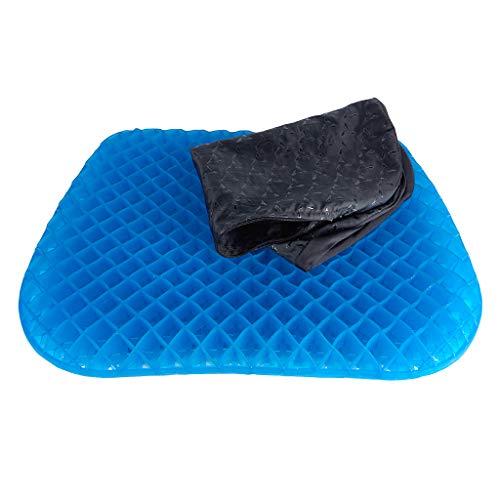 happy globe Sitzkissen Orthopädisch | Gel Sitzkissen mit Anti-Rutsch Bezug | Gerade Körperhaltung & Steißbein-Entlastung | Ideal für Auto, Büro & Rollstuhl