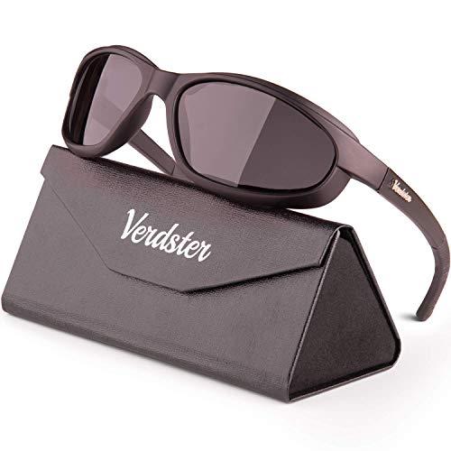 Verdster Gafas de Sol Deportivas Polarizadas para Hombre & Mujer – Protección UV - Diseño Cómodo Envolvente con Almohadillas de Espuma – Ideal para Ciclismo & Motocicleta