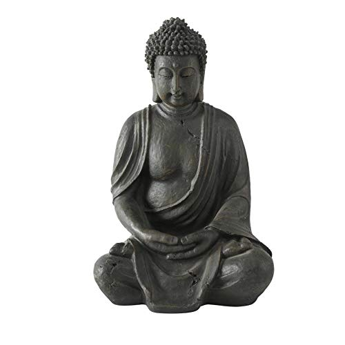 CasaJame Budha sentado (resina, 40 cm), color marró