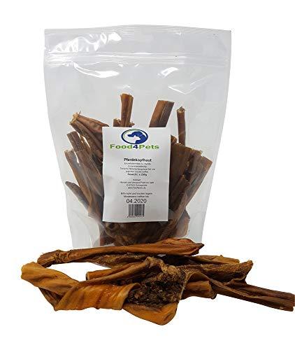 Food4Pets Pferdekopfhaut Hundeleckerli 250g - natürliche Zahnpflege für Hunde