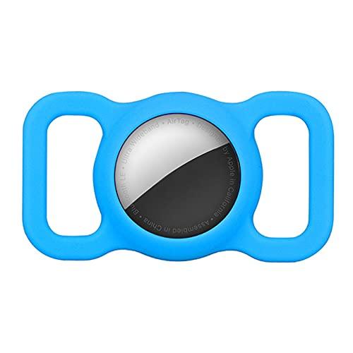 Vecksoy 2 Stück Silikon Schutz Hülle Kompatibel Mit Airtag GPS Finder Hundehalsband, Silikon Katzenhalsband Halter Für Air Tags, Silikon Schutzhülle Leicht Weich Anti-Kratz Anti-Lost