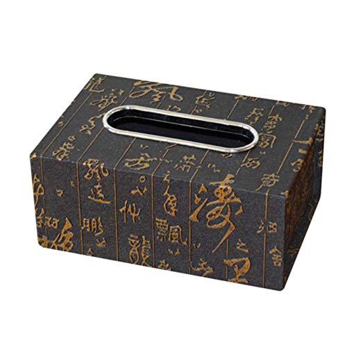 ZNYH Caja de pañuelos de Cuero Cajas de bandejas de servilletas Europeas Caja de pañuelos de Cuero Mediana para automóvil Caja de Soporte Caja Estuche Bolsa Soporte de pañuelos de Mesa-C
