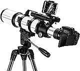 Bierglaks Telescopio National Geographic, óptica con Revestimiento múltiple, telescopio portátil de Viaje Duradero con trípode y buscador