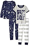 Spotted Zebra Unisex infantil 4-piece Snug-fit Cotton Pajama Set