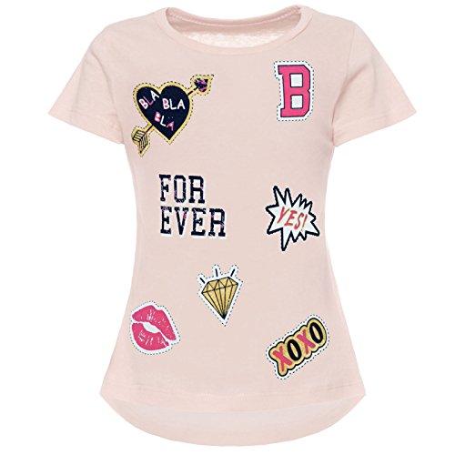 BEZLIT Mädchen T-Shirt Kurzarm Strech 21843 Rosa Größe 104