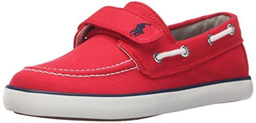 Polo Ralph Lauren Kids unisex-child Sander EZ R Canvas N PP Fashion Sneaker , Red, 5.5 M US Toddler
