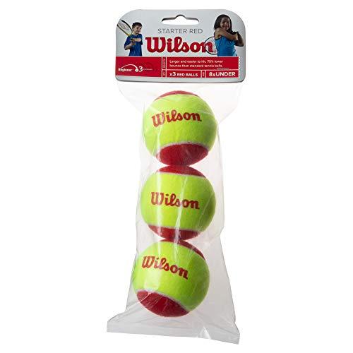 Wilson(ウイルソン) ジュニア・キッズ用 テニスボール スポンジボール STARTER RED(スターターレッド) 3個入り イエローxレッド WRT137001 ウィルソン