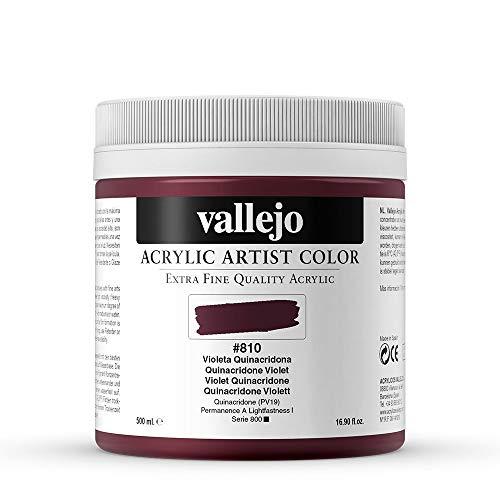 Vallejo : Artist Acrylic Paint : 500ml Pot : Quinacridone Violet