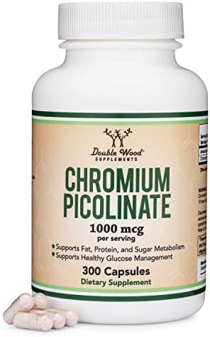 Chromium Picolinate 1000mcg for Weight Loss High Absorption and Bioavailability 300 Vegan Safe product image
