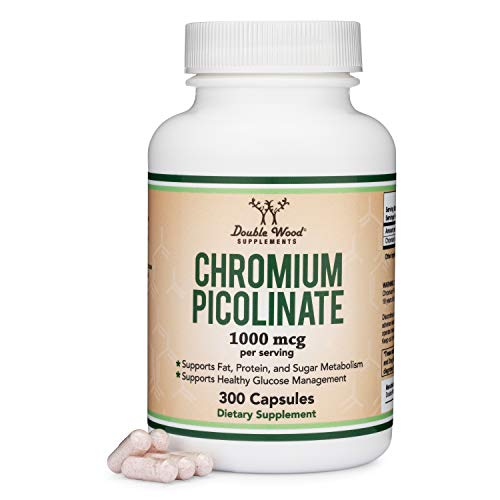 Chromium Picolinate 1000mcg for Weight Loss (High Absorption and Bioavailability) (300 Vegan Safe...