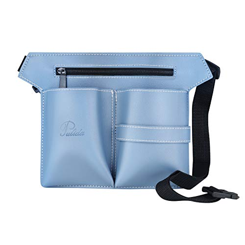 Bolsa De Peluquería Cinturón Bolsa De Herramientas De Maquillaje Profesional Multifunción Bolsa De Peluquería Kit De Tijeras Para El Cabello Bolsa Tijeras Cepillos Almacenamiento (Azul)
