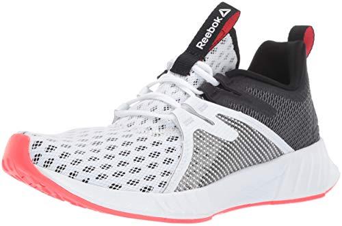 Reebok Women's FUSIUM Run 2.0, White/Black/neon red/Silver, 5 M US