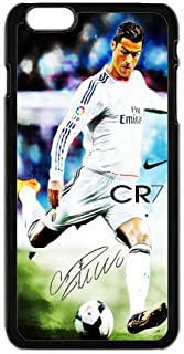 Sport Real Madrid Club de Futbol Cristiano Ronaldo Print Black Case With Hard Shell Cover for iPhone 6 Case (4.7inch) -JUST do it ,CR7 Classic style 4
