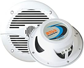BOSS Audio Systems Marine MR50W 150 Watt Per Pair, 5.25 Inch Full Range, 2 Way, Weatherproof Sold in Pairs