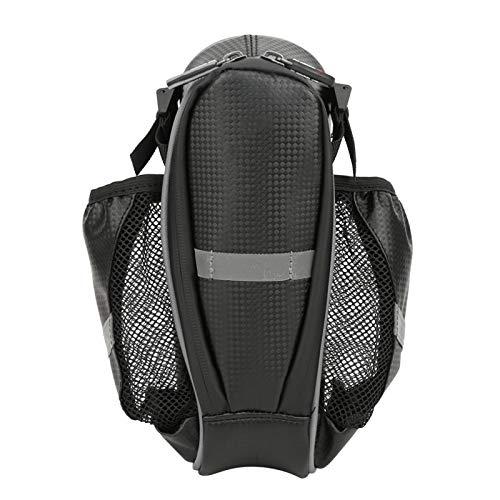 Jeanoko Paquete de botella de agua Alforja Cubierta de lluvia Bolsa a prueba de polvo Fácil de usar y quitar Ciclismo y senderismo(negro gris)