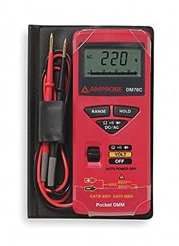 Pocket Digital Multimeter 600V 34 MOhms