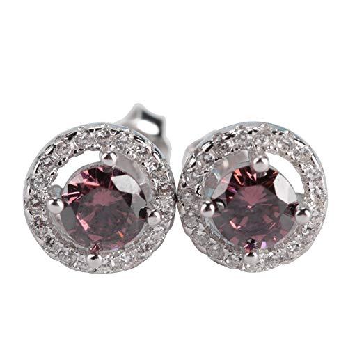 Mode 925 sterling zilver ronde strass hanger oorbellen, vrouwelijke meisje oorlel geperforeerde sieraden
