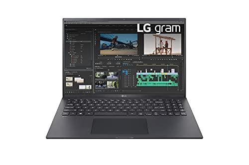 LG Gram 16Z90P - Notebook, Display 16' Quad HD 16:10 IPS, 2560x1600, Intel Core i7-1165G7, RAM 16GB DDR4, SSD 512GB, Intel Iris Xe, Batteria 80Wh, Thunderbolt4, Win10 PRO, Tastiera Italiana, Nero