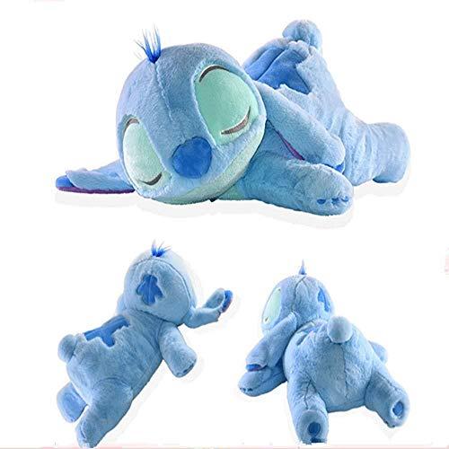 INGFBDS Kuscheltier 40-50 cm Stitch Schlafen Plüschtier Puppe Kuscheltier Kissen Kinder Geschenk