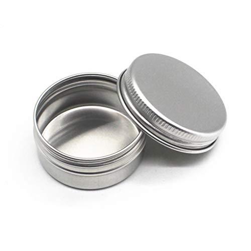 Guangcailun 10pcs Bálsamo de uñas de Arte Cosmética Crema Maquillaje de Labios Pot Tarro de la Lata del envase del Caso